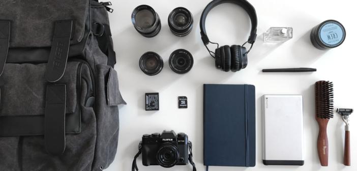 ensemble des objets qui composent ma valise